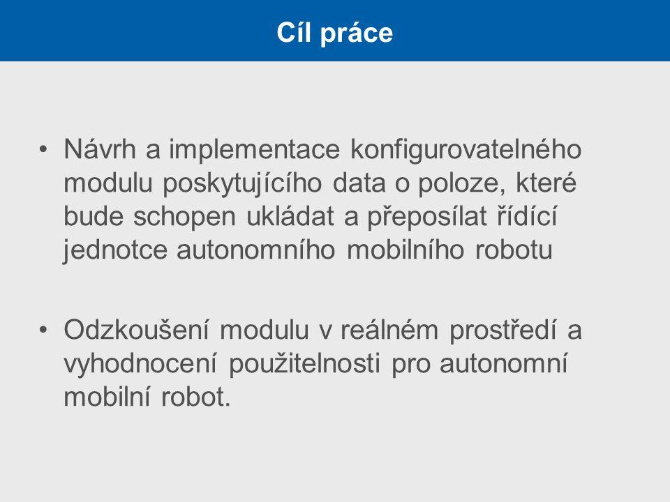 Návrh a implementace konfigurovatelného modulu poskytujícího data o poloze, které bude schopen ukládat a přeposílat řídící jednotce autonomního mobiln