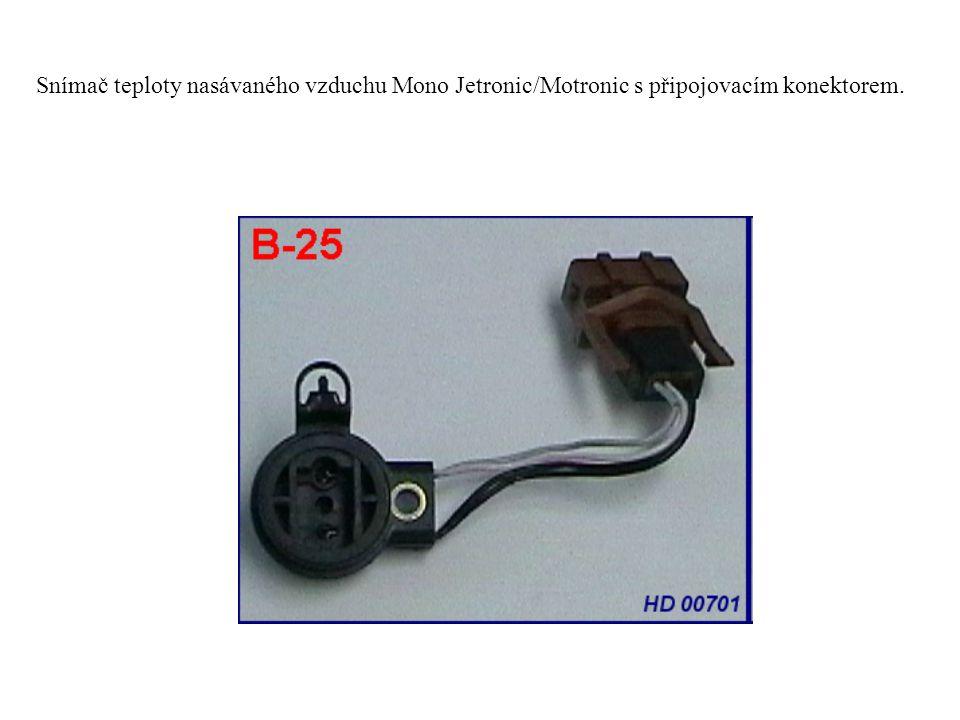 Snímač teploty nasávaného vzduchu Mono Jetronic/Motronic s připojovacím konektorem.
