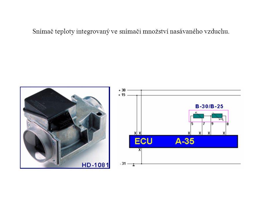 Snímač teploty integrovaný ve snímači hmotnosti nasávaného vzduchu.