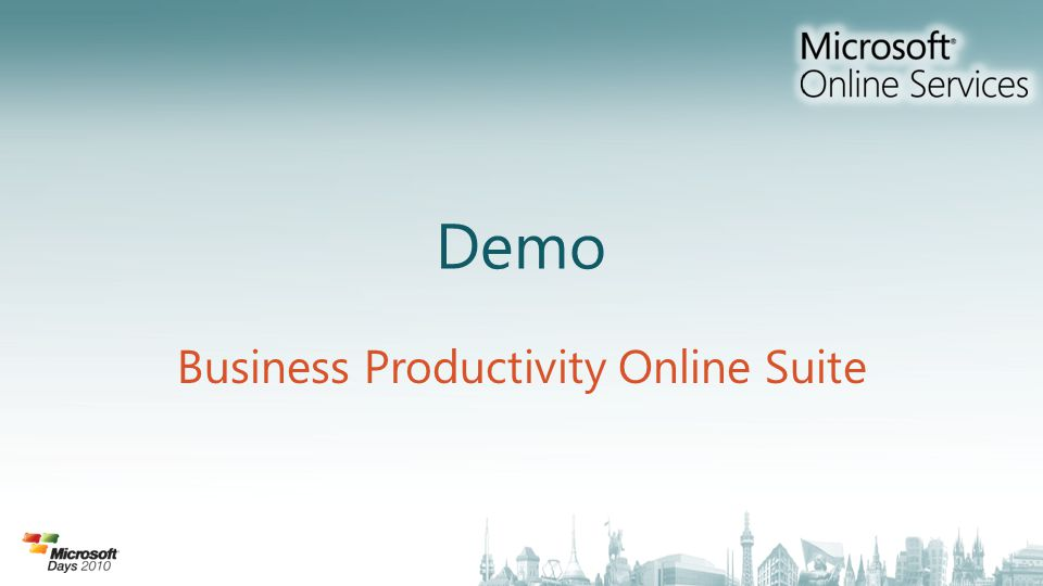 Demo Business Productivity Online Suite