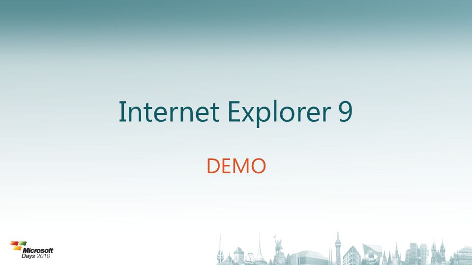 Internet Explorer 9 DEMO
