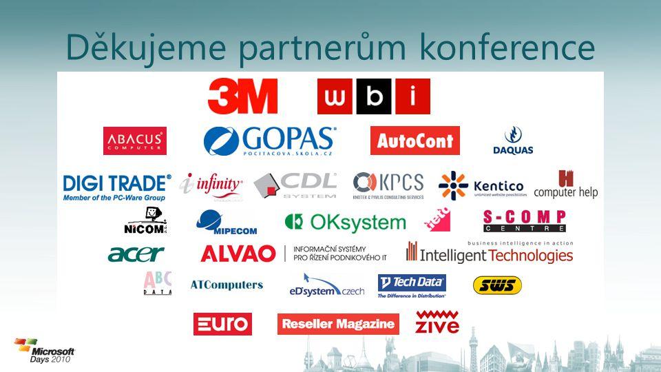 Představení platinových partnerů... Děkujeme partnerům konference