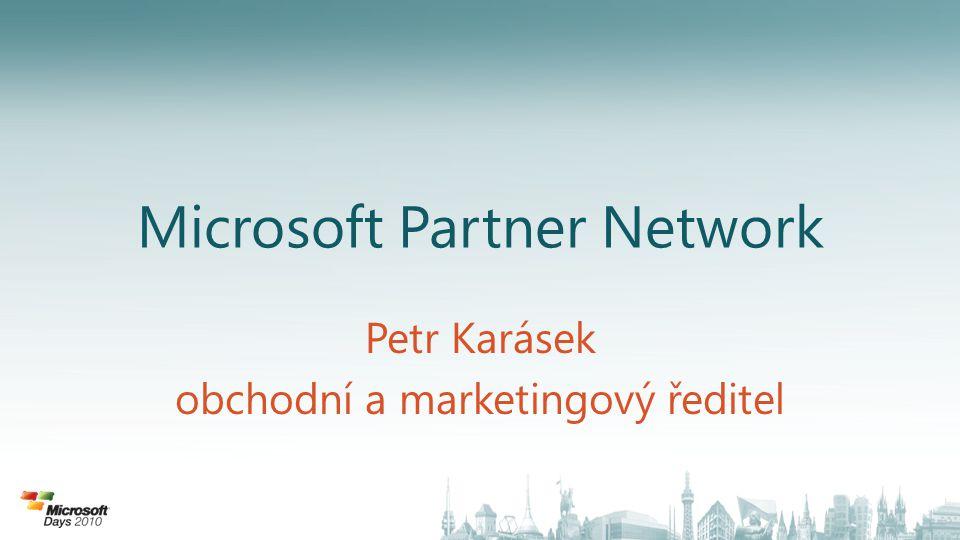 Partnerství s Microsoft Obchodní model, kde klíčem jste VY Dlouhodobý vztah = partnerství v rámci MPN Společné zvyšování výkonnosti Kompetence Jak najít kompetentního partnera MPN – kde se dozvíte více