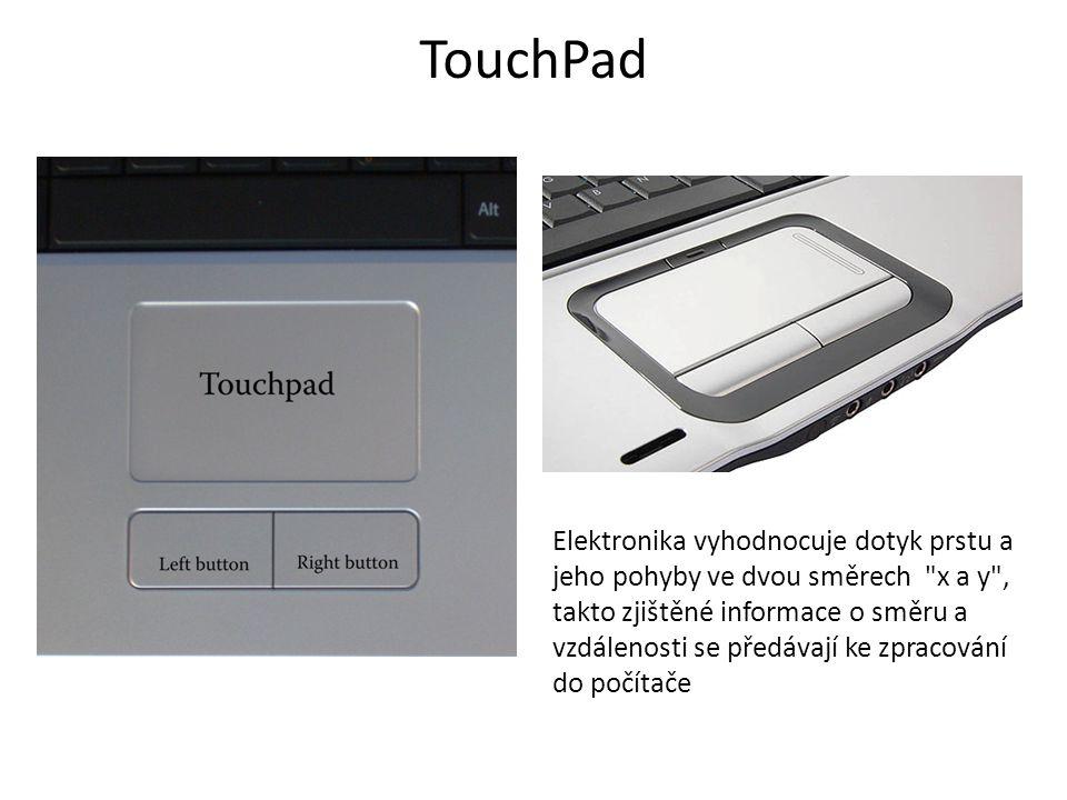 TrackPoint Elektronika vyhodnocuje jakou silou a jakým směrem je nakloněn ovladač, což přepočítá na dva směry x a y a takto zjištěné údaje se předávají ke zpracování do počítače