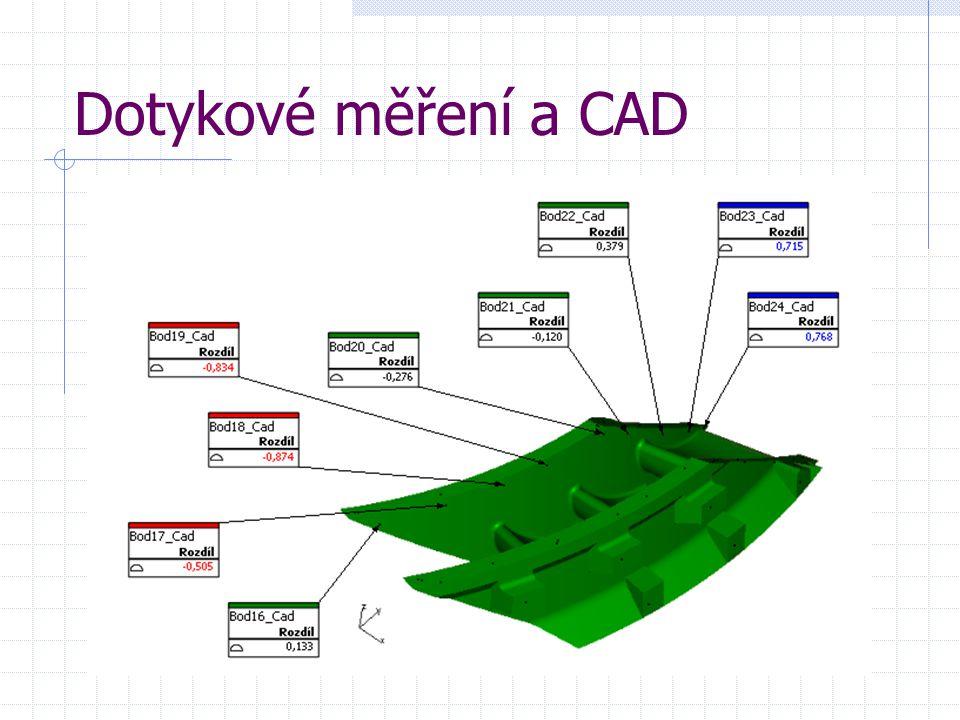 Dotykové měření a CAD