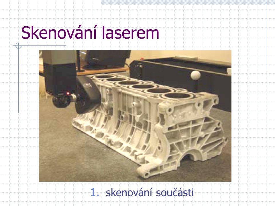 Skenování laserem 1. skenování součásti