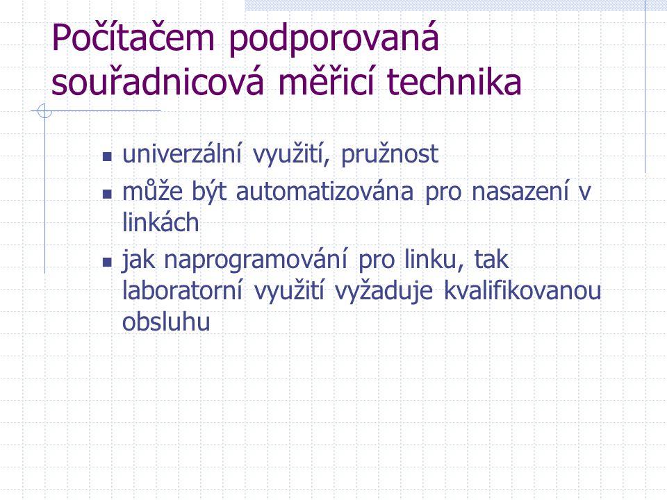 Počítačem podporovaná souřadnicová měřicí technika univerzální využití, pružnost může být automatizována pro nasazení v linkách jak naprogramování pro