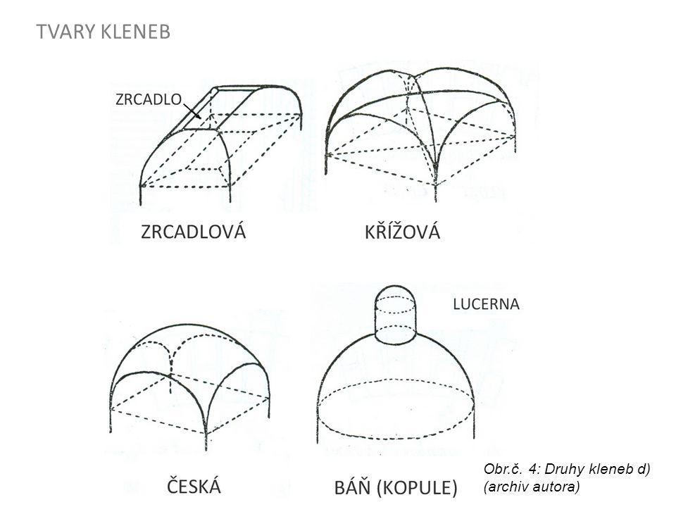 OPAKOVÁNÍ - DRUHY ČELNÍCH OBLOUKŮ Obr.č.5: Druhy čelních oblouků (archiv autora)Obr.č.