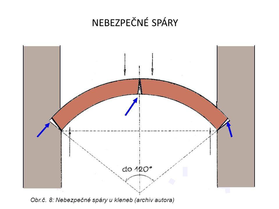 OPRAVA KLENEB V klenbách působí tahové a tlakové síly jinak, než u vodorovných konstrukcí.