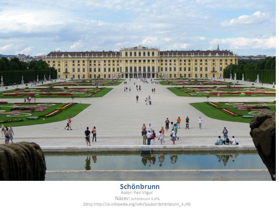 Schönbrunn Autor: Petr Vilgus Název: Schönbrunn 3.JPG Zdroj: http://cs.wikipedia.org/wiki/Soubor:Schönbrunn_3.JPG