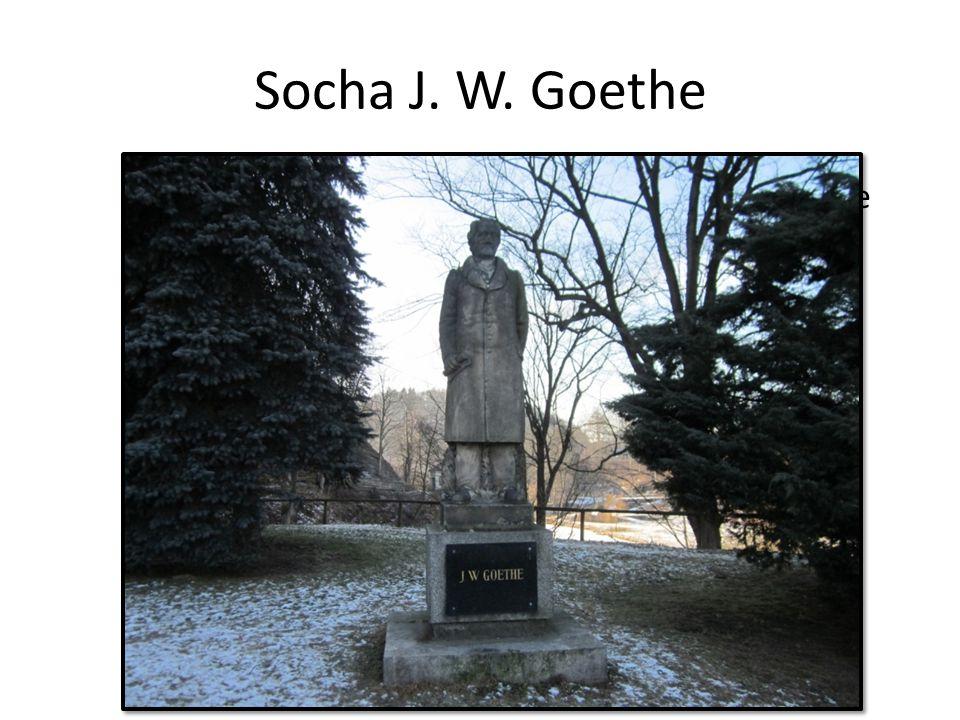 Socha J. W. Goethe socha odhalena v roce 1932 Německý básník, prozaik, dramatik, historik umění J.