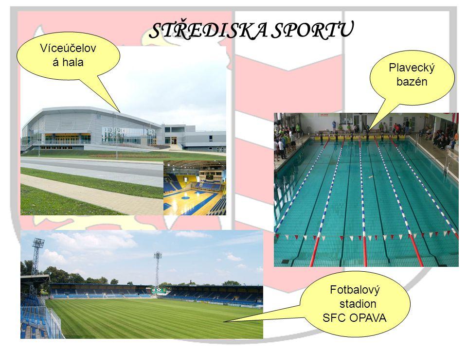 STŘEDISKA SPORTU Plavecký bazén Víceúčelov á hala Fotbalový stadion SFC OPAVA