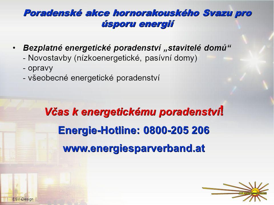 """Poradenské akce hornorakouského Svazu pro úsporu energií Bezplatné energetické poradenství """"stavitelé domů - Novostavby (nízkoenergetické, pasívní domy) - opravy - všeobecné energetické poradenství Včas k energetickému poradenství ."""