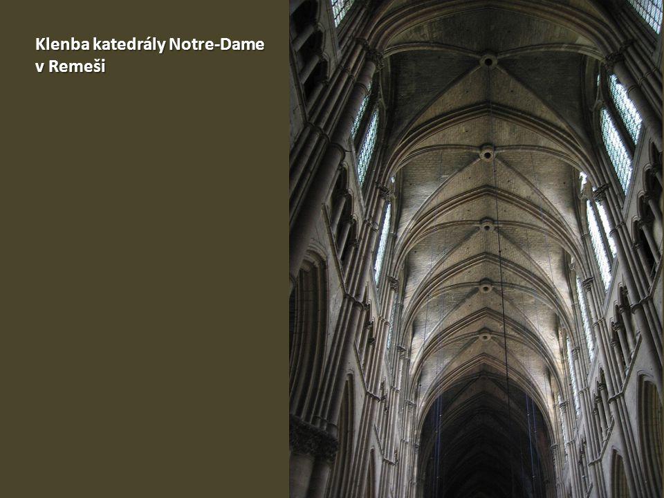 Klenba katedrály Notre-Dame v Remeši
