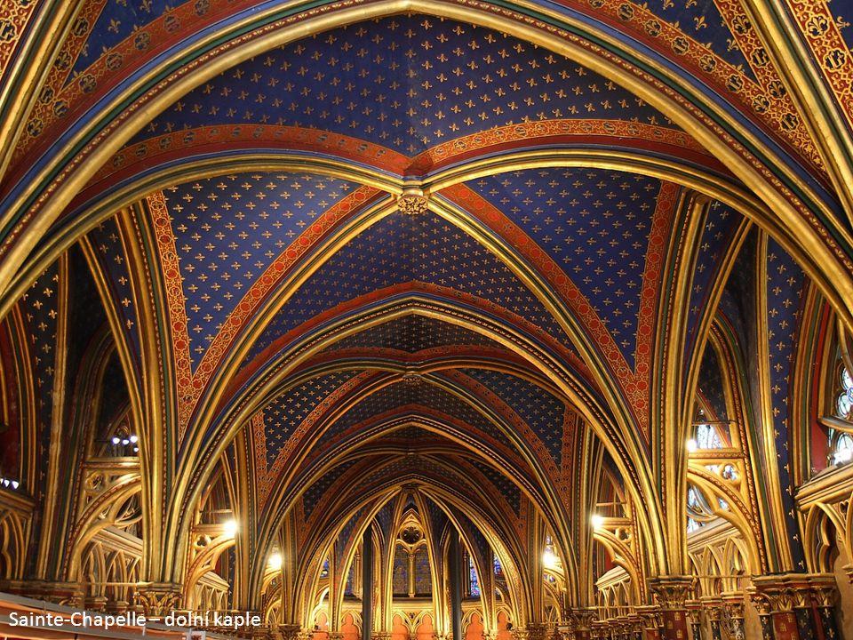 Sainte-Chapelle – dolní kaple