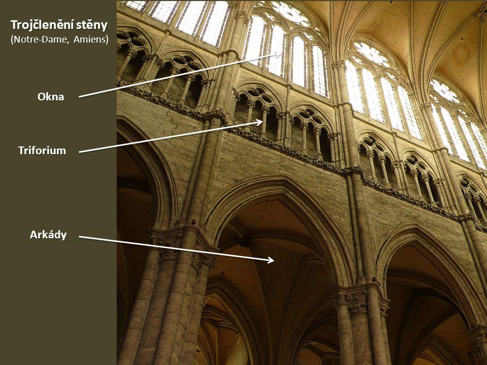 Arkády Trojčlenění stěny (Notre-Dame, Amiens) Triforium Okna