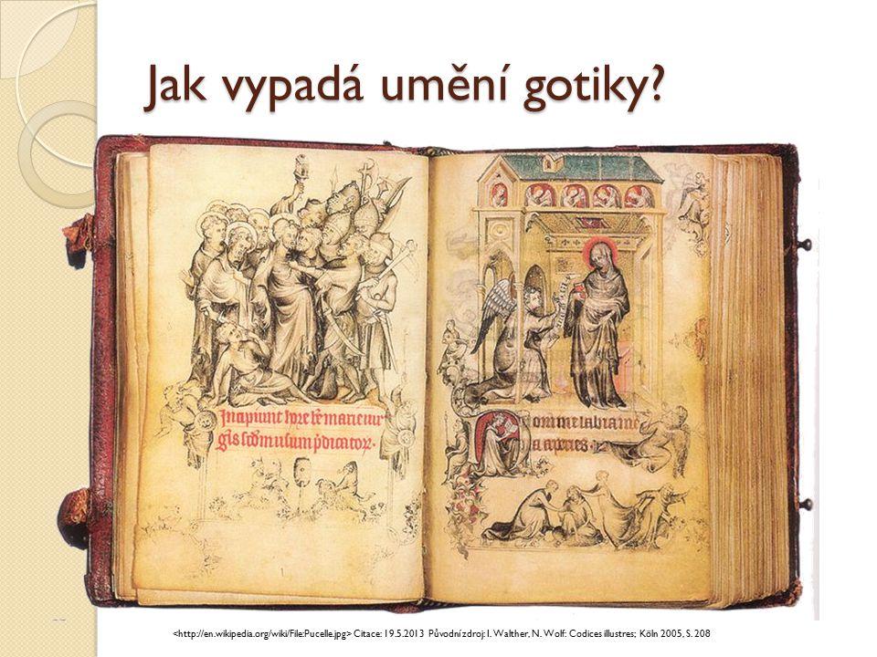 Jak vypadá umění gotiky? Mistr třeboňského oltáře Citace: 11.6.2013
