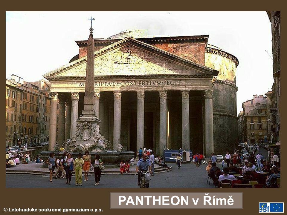 © Letohradské soukromé gymnázium o.p.s. PANTHEON v Římě