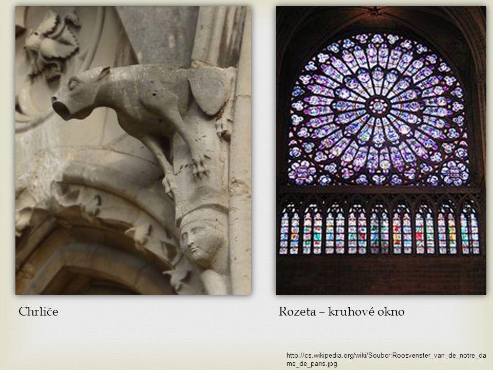Katedrála Notre Dame v Paříži Gotika ve Francii http://cs.wikipedia.org/wiki/Soubor:Paris.notre.dame.750pix.jpg