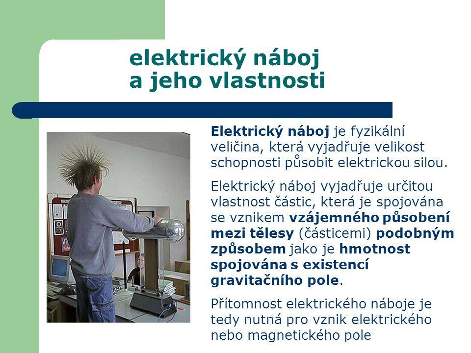 Elektrický náboj je fyzikální veličina, která vyjadřuje velikost schopnosti působit elektrickou silou. Elektrický náboj vyjadřuje určitou vlastnost čá