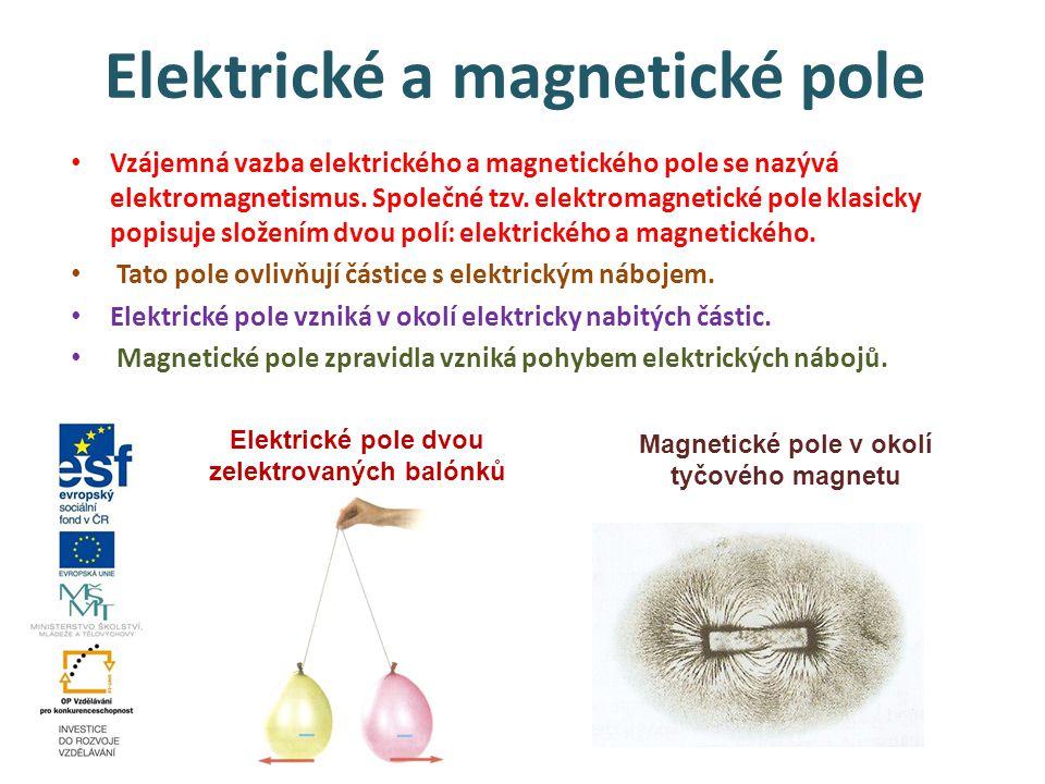 Elektrické a magnetické pole Vzájemná vazba elektrického a magnetického pole se nazývá elektromagnetismus. Společné tzv. elektromagnetické pole klasic