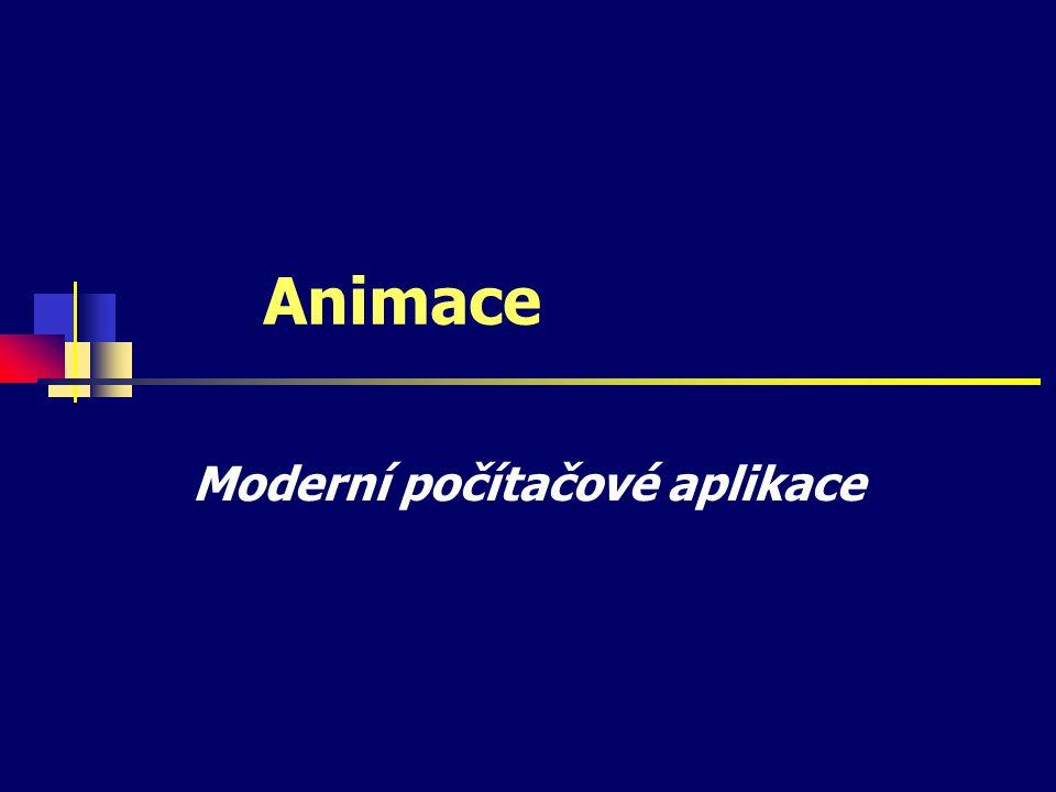 Animace Moderní počítačové aplikace