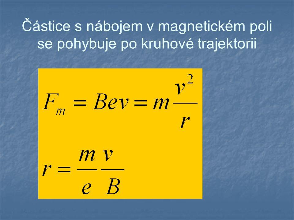 Demonstrace pohybu elektronu v magnetickém poli