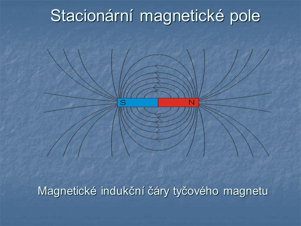 Stacionární magnetické pole Magnetické indukční čáry tyčového magnetu