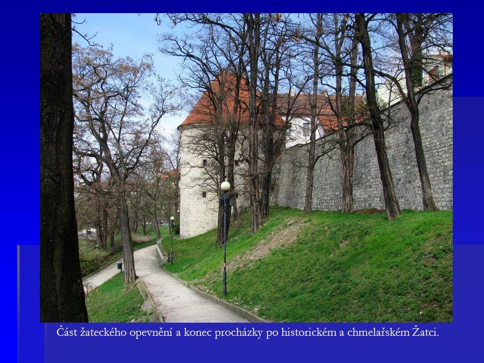 Část žateckého opevnění a konec procházky po historickém a chmelařském Žatci.