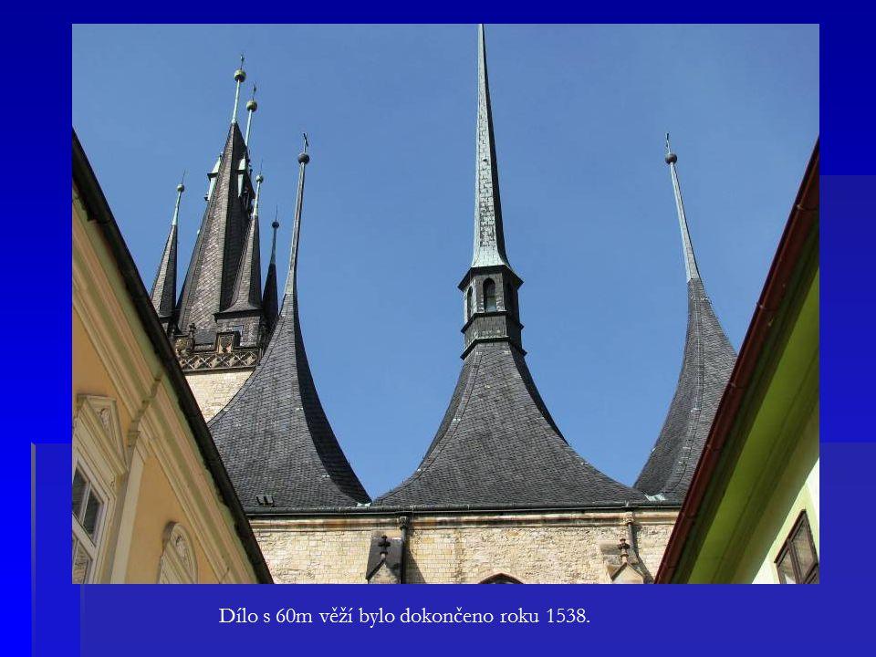 Dílo s 60m věží bylo dokončeno roku 1538.