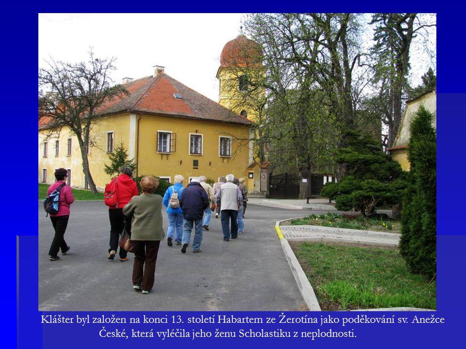 Klášter byl založen na konci 13. století Habartem ze Žerotína jako poděkování sv.