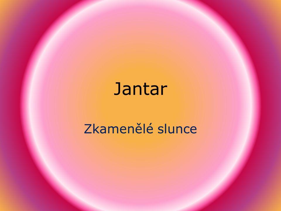 Jantar Zkamenělé slunce