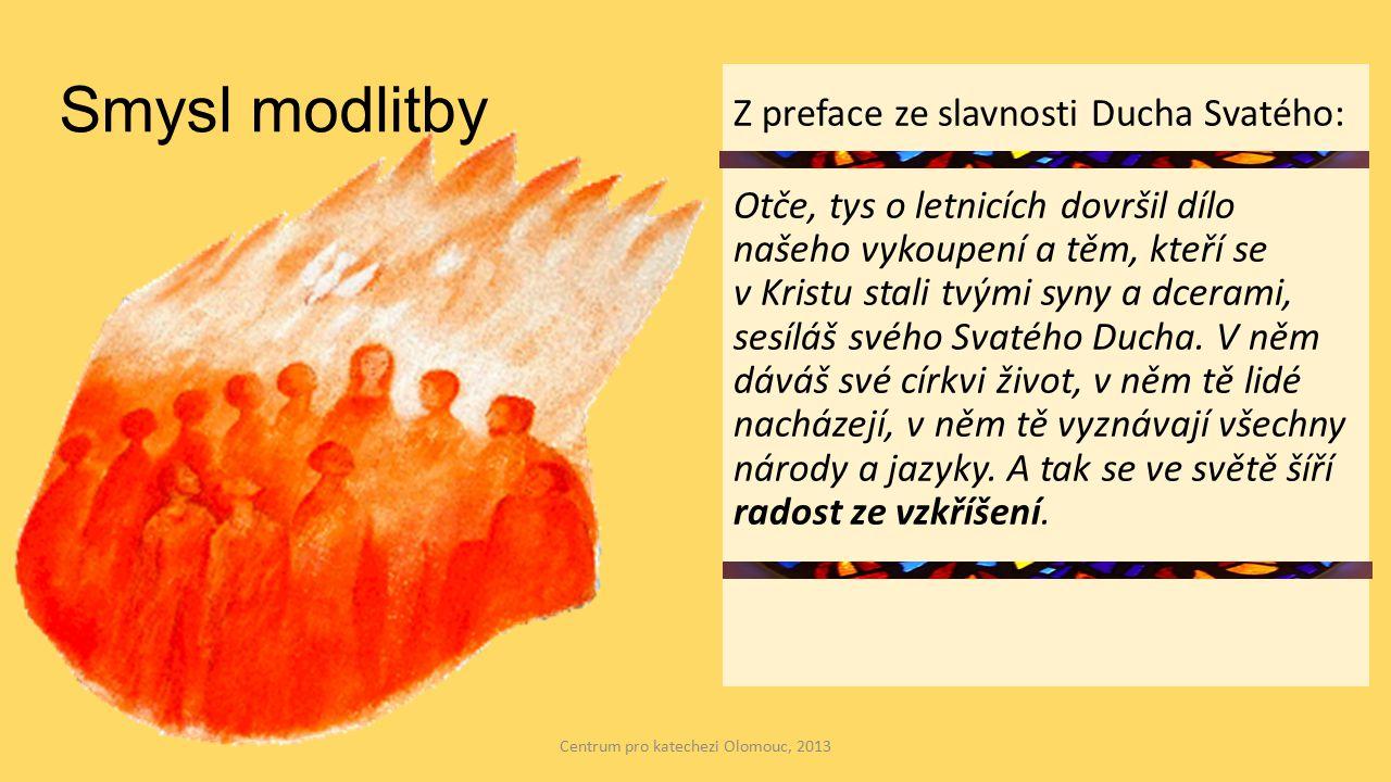 """Obsah modlitby je prubířským kamenem víry; není zaříkávací rituál; ale stává se skutečnou a intimní komunikací s Bohem; Je dialogem lásky, na jehož konci by ve mně mělo zarezonovat: """"Neboj se, já jsem s tebou, nestarej se, já jsem tvůj Bůh, já ti pomáhám, já tě chráním. Centrum pro katechezi Olomouc, 2013"""