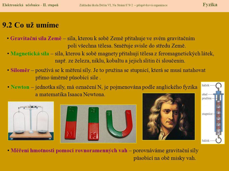 9.3 Nové pojmy Elektronická učebnice - II.