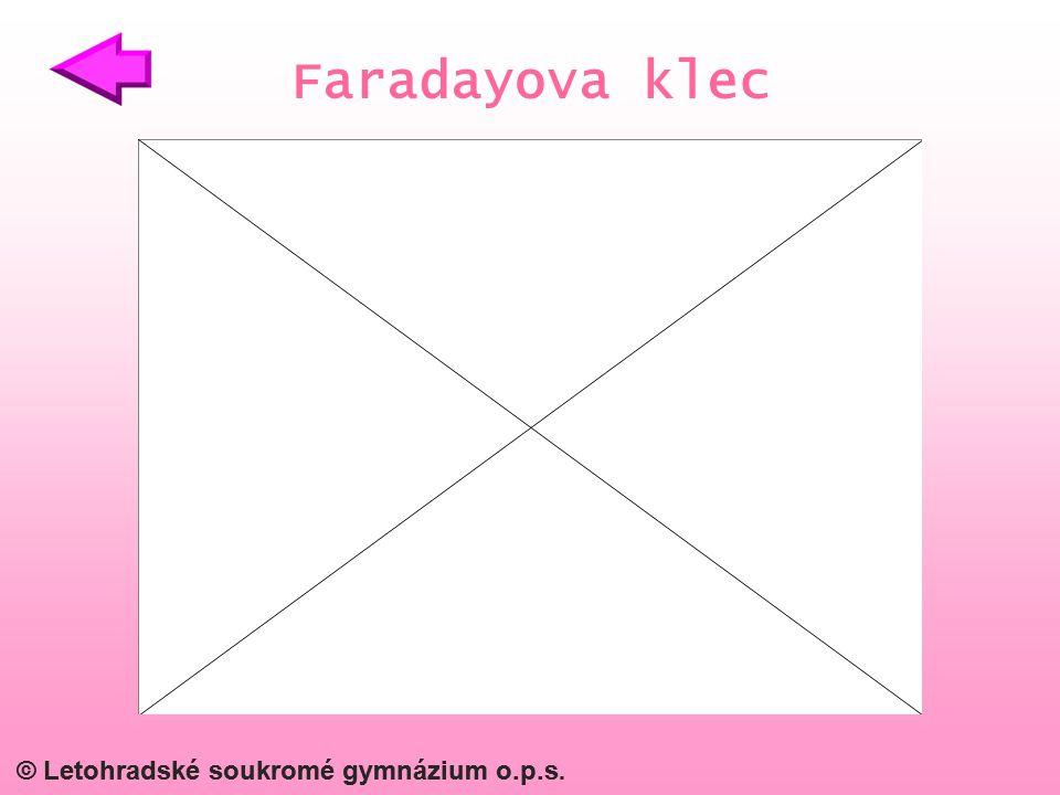 © Letohradské soukromé gymnázium o.p.s. Faradayova klec