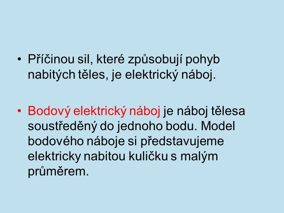 Příčinou sil, které způsobují pohyb nabitých těles, je elektrický náboj.