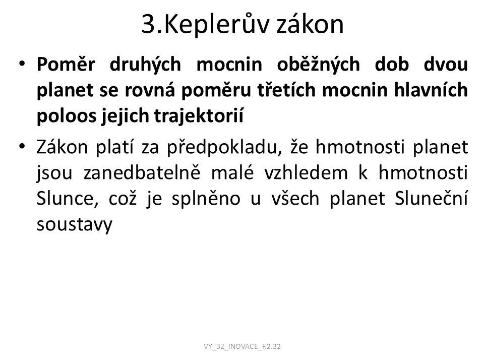 3.Keplerův zákon VY_32_INOVACE_F.2.32