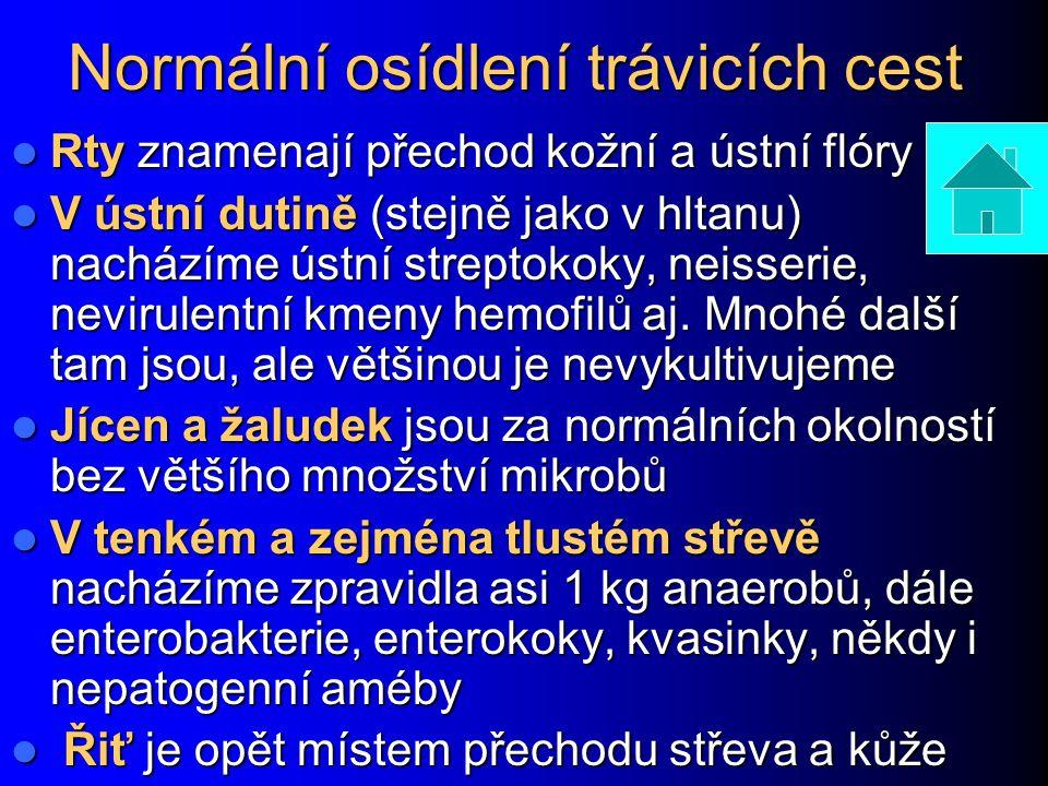 Infekce dvanáctníku (duodena) Kromě gastroduodenálních vředů může jít zejména o parazitární infekce bičíkovcem Giardia intestinalis (Giardia lamblia, Lamblia intestinalis) Kromě gastroduodenálních vředů může jít zejména o parazitární infekce bičíkovcem Giardia intestinalis (Giardia lamblia, Lamblia intestinalis) Kromě stolice lze v tomto případě vyšetřovat i duodenální šťávu.