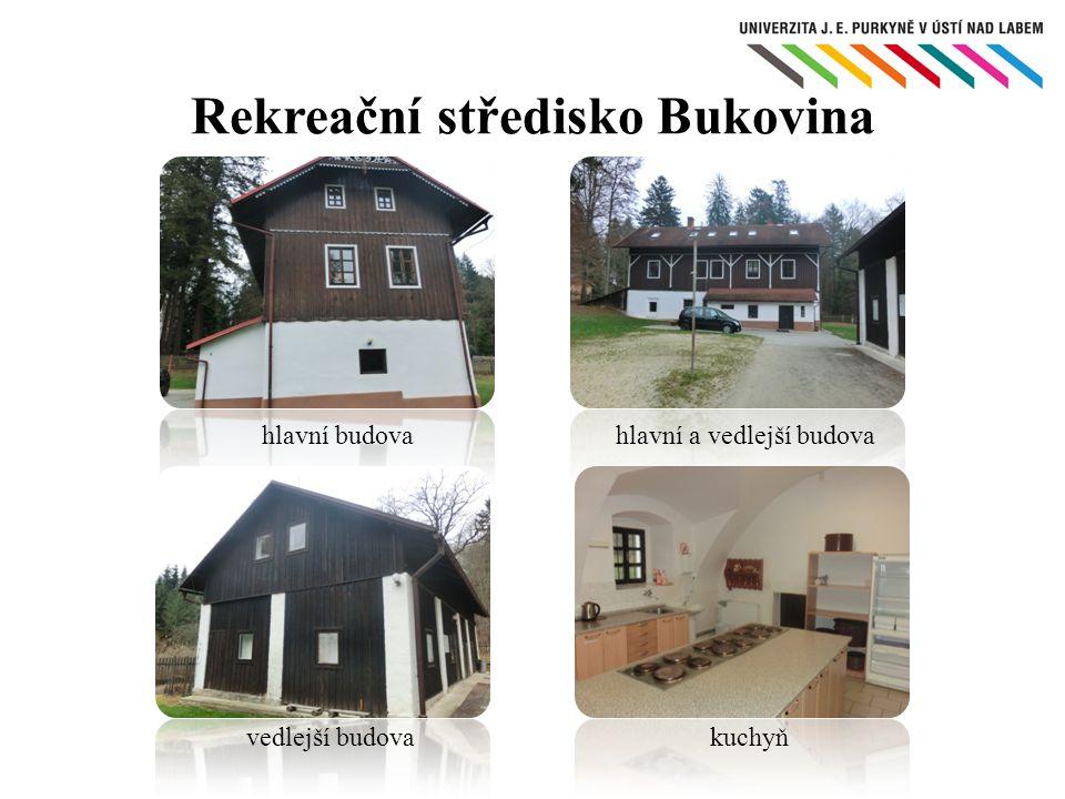 hlavní budova Rekreační středisko Bukovina vedlejší budova hlavní a vedlejší budova kuchyň