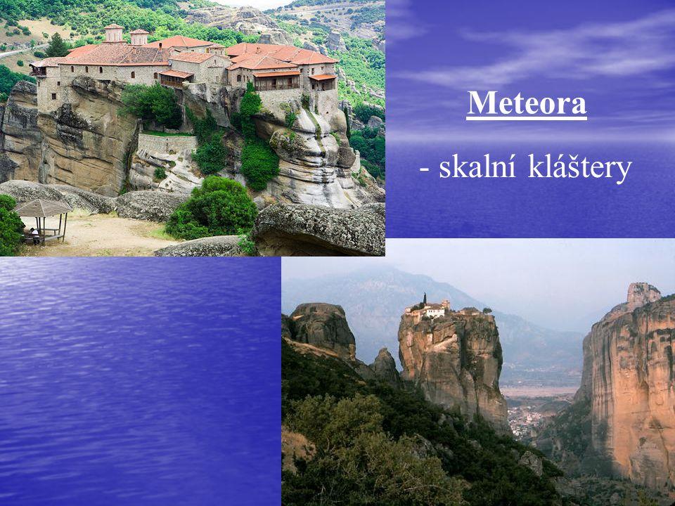 Meteora - skalní kláštery
