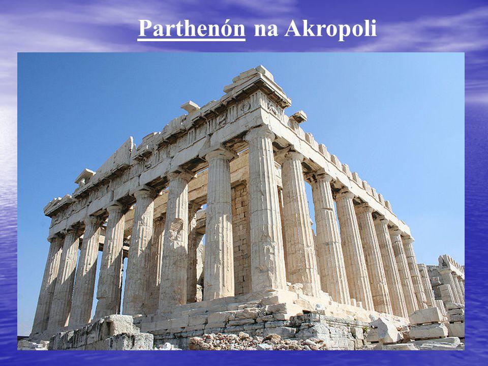 Parthenón na Akropoli