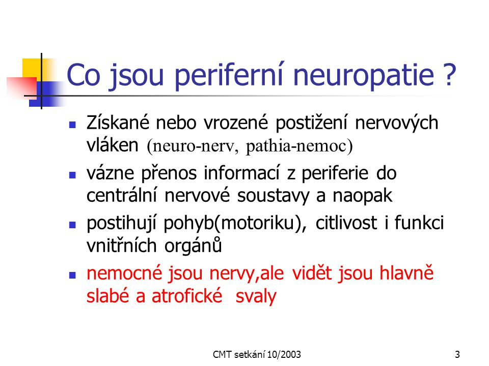 CMT setkání 10/200323 Motorický neurogram - n.medianus