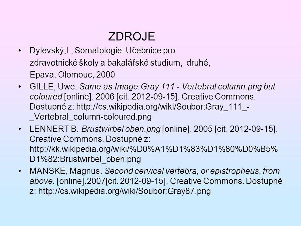 ZDROJE Dylevský,I., Somatologie: Učebnice pro zdravotnické školy a bakalářské studium, druhé, Epava, Olomouc, 2000 GILLE, Uwe. Same as Image:Gray 111