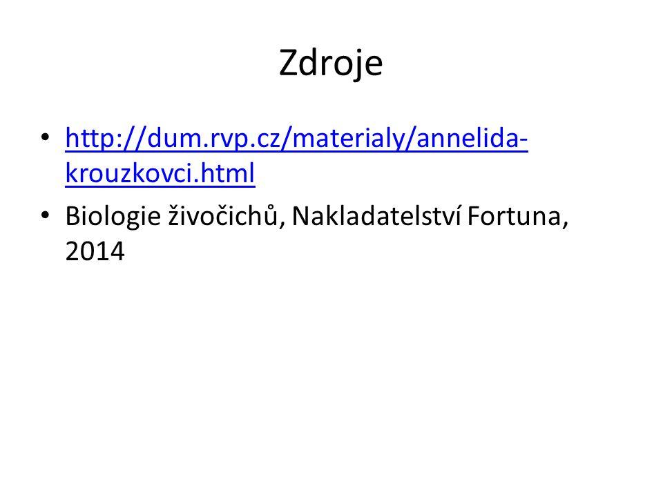Zdroje http://dum.rvp.cz/materialy/annelida- krouzkovci.html http://dum.rvp.cz/materialy/annelida- krouzkovci.html Biologie živočichů, Nakladatelství Fortuna, 2014