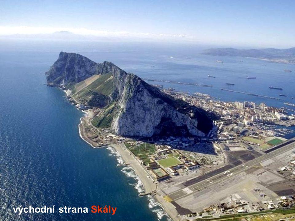 Gibraltarský a Alžírský záliv Gibraltarská skála