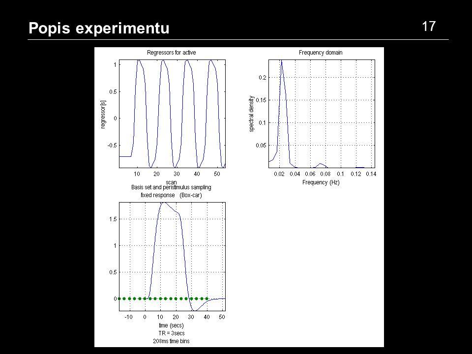 Popis experimentu 17