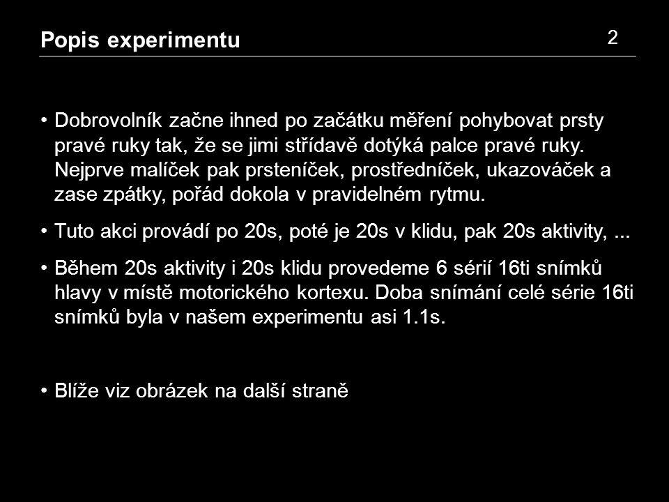 Popis experimentu 3