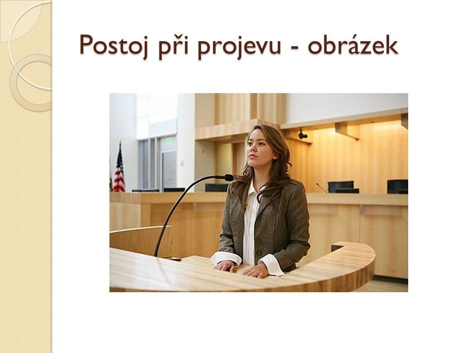 Postoj při projevu - obrázek