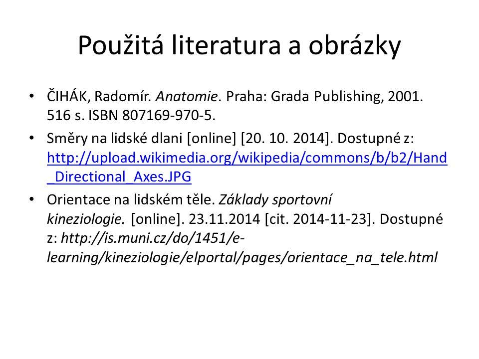Použitá literatura a obrázky ČIHÁK, Radomír.Anatomie.