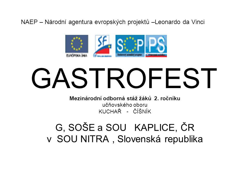 GASTROFEST Mezinárodní odborná stáž žáků 2.